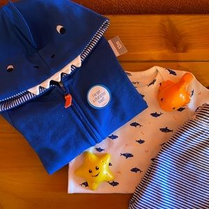NWT Shark Outfit Set